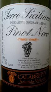 Terre Siciliane Pinot Nero Calabretta