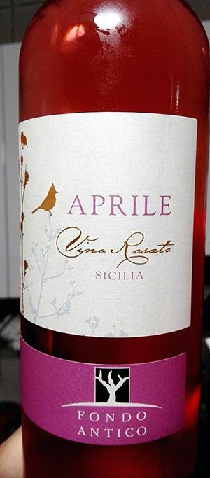 Fondo Antico - Aprile (vino rosato da Nero d'Avola)